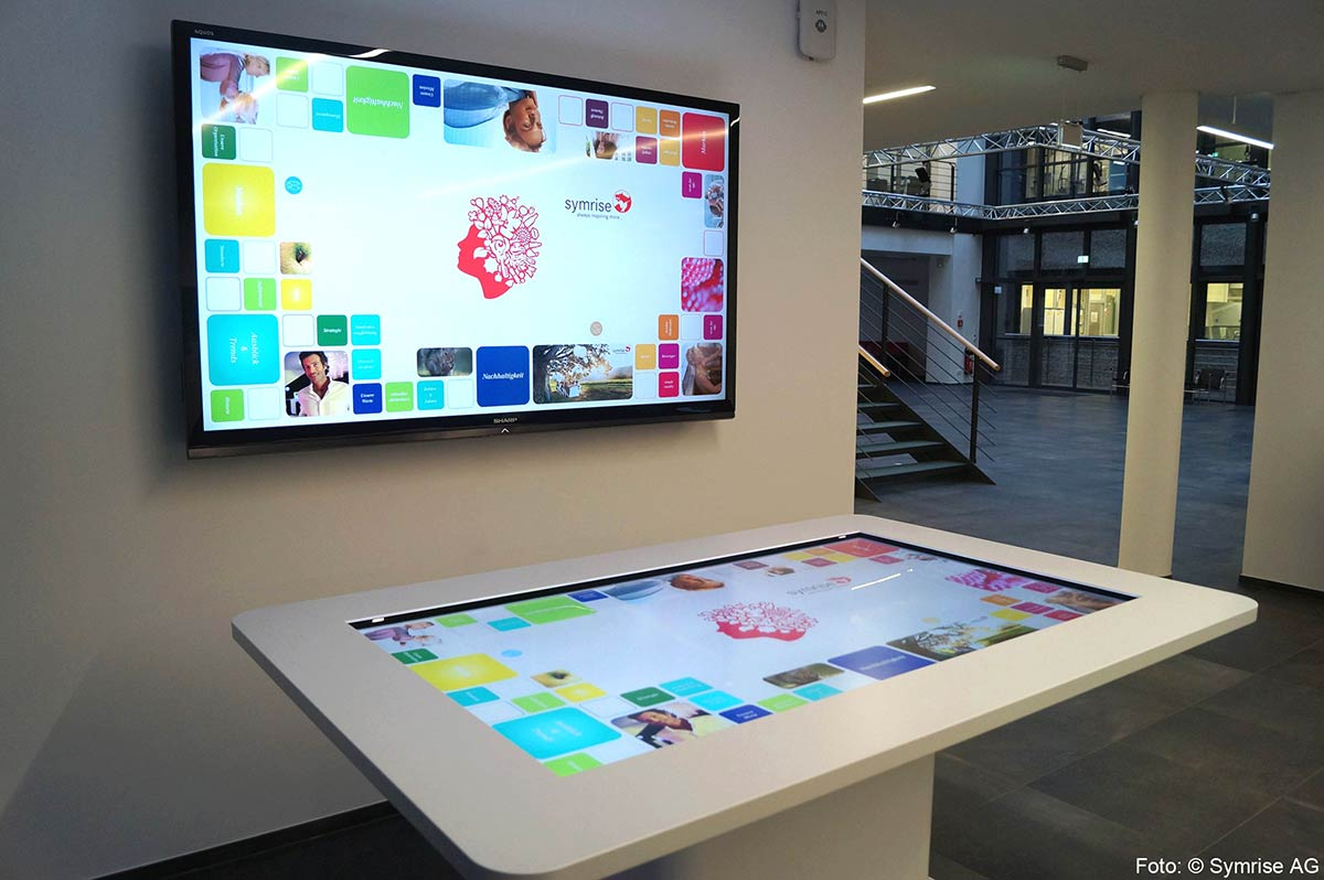 Symrise AG Multitouch Table